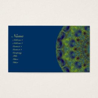 Cartão De Visitas Caleidoscópio do Fractal da serenidade