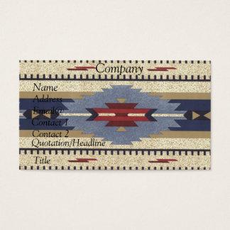 Cartão De Visitas Calendário 2012 do nativo americano