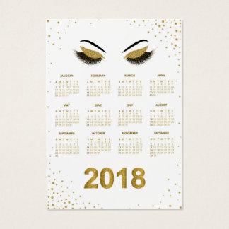 Cartão De Visitas Calendário 2018 do maquilhador