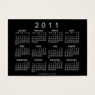 Cartão De Visitas Calendário de 2011 bolsos