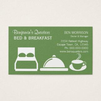 Cartão De Visitas Cama feita sob encomenda verde da cor B&B - e -