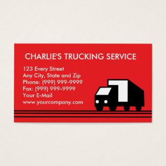 Cartão De Visitas Caminhão do transporte do camião da camionete de
