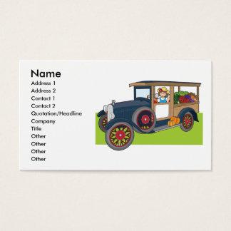 Cartão De Visitas Caminhão do vegetariano
