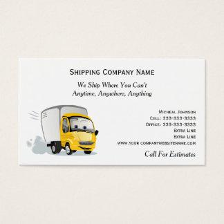 Cartão De Visitas Caminhão dos desenhos animados na empresa de
