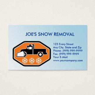 Cartão De Visitas Camionete do Snowplow