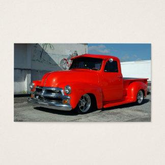 Cartão De Visitas Camionete personalizado vermelho