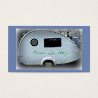 Cartão De Visitas Campista personalizado do vintage da lágrima
