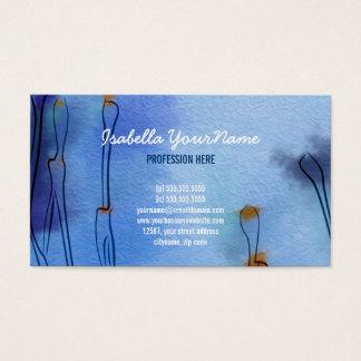 Cartão De Visitas Campo artístico da papoila