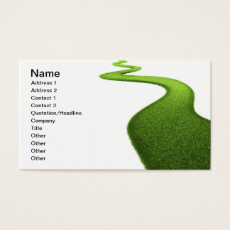 Cartão De Visitas Campo da grama verde fresca