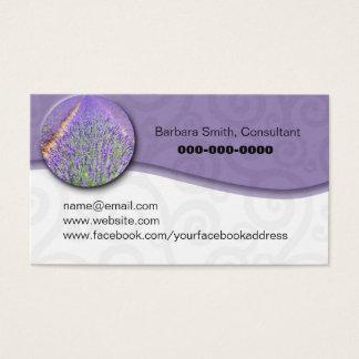 Cartão De Visitas Campo lavendar do óleo essencial