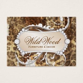 Cartão De Visitas Candelabro de madeira selvagem do impressão do