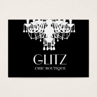 Cartão De Visitas Candelabro do branco do boutique do Glitz 311