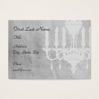 Cartão De Visitas Candelabro no papel cinzento vincado
