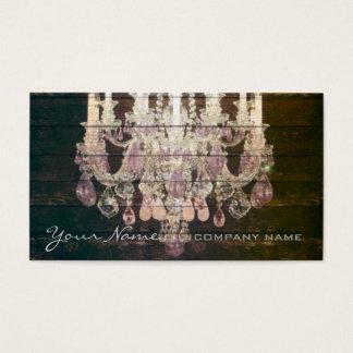 Cartão De Visitas Candelabro rústico de madeira do vintage do