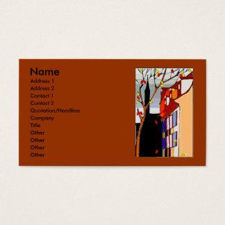 Cartão De Visitas Caneta na cena traseira do outono na parte