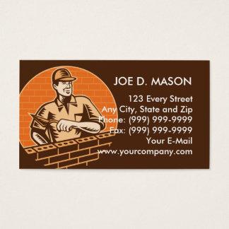 Cartão De Visitas canteiro da alvenaria ou plasterer