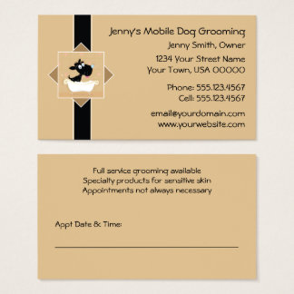 Cartão De Visitas Cão bonito na nomeação | do Groomer do cão de
