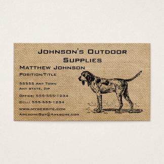 Cartão De Visitas Cão de caça do vintage de serapilheira