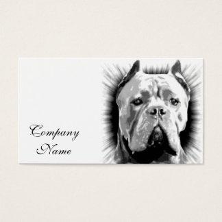 Cartão De Visitas Cão de Corso do bastão