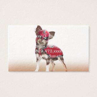 Cartão De Visitas Cão do libre de Lucha, chihuahua engraçada,