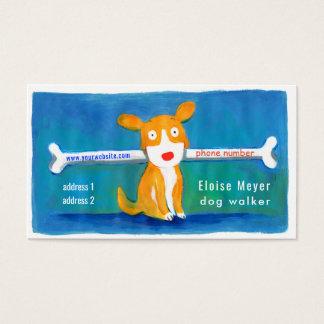 Cartão De Visitas cão engraçado do caminhante do cão