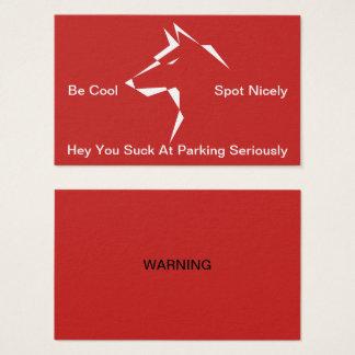 Cartão De Visitas Cão que do guardião você suga no aviso do