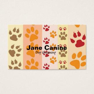 Cartão De Visitas Cão que prepara o impressão moderno à moda da pata
