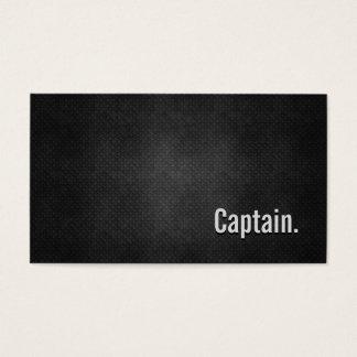 Cartão De Visitas Capitão Refrigerar Preto Metal Simplicidade