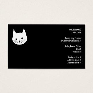 Cartão De Visitas Cara bonito do gato