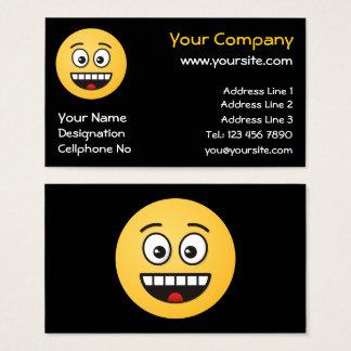 Cartão De Visitas Cara de sorriso com boca aberta