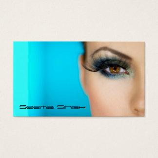 Cartão De Visitas Cara do artista dos cosméticos da composição meia