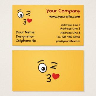 Cartão De Visitas Cara que joga um beijo