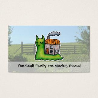 Cartão De Visitas Caracol movente do anúncio da casa