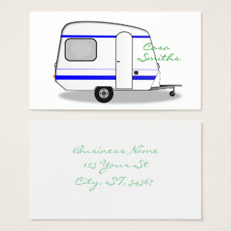 Cartão De Visitas Caravana aciganada Thunder_Cove do reboque
