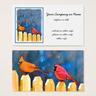 Cartão De Visitas Cardeais na cerca
