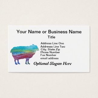 Cartão De Visitas Carneiros do arco-íris