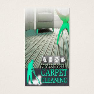 Cartão De Visitas Carpet Cleaning Service Business Card