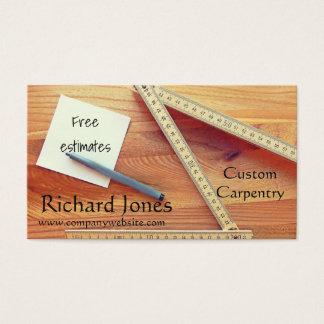 Cartão De Visitas Carpintaria, funcionamento de madeira e ajustador