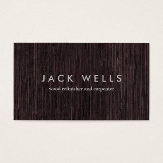 Cartão De Visitas Carpintaria rústica do carpinteiro da grão de