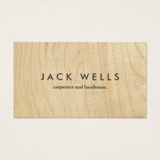 Cartão De Visitas Carpinteiro e trabalhador manual de madeira claros