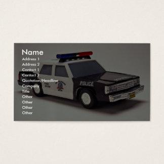 Cartão De Visitas Carro de polícia preto e branco