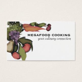 Cartão De Visitas Carro mega do negócio do cozinhar da planta do