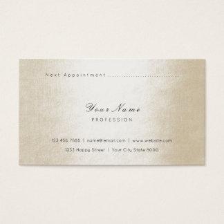 Cartão De Visitas Carro Pastel Vip da nomeação do marfim perolado