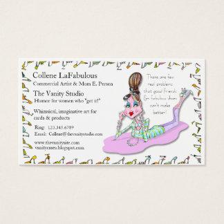 Cartão De Visitas carro temático do biz dos calçados fabulosos