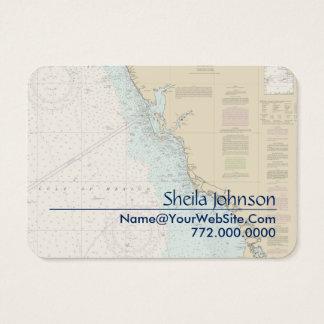 Cartão De Visitas Carta náutica de Punta Gorda da costa do golfo de