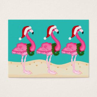 Cartão De Visitas Cartão/Tag do cerco do Natal do flamingo