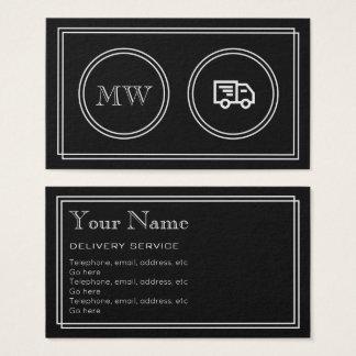 """Cartão De Visitas """"Cartões de empresa de serviços da entrega do"""