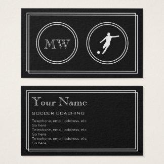 """Cartão De Visitas """"Cartões de visitas de treinamento do futebol do"""