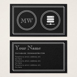 """Cartão De Visitas """"Cartões de visitas do Admin da base de dados do"""