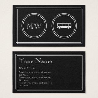 """Cartão De Visitas """"Cartões de visitas do aluguer do ônibus do filme"""